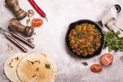 Пряные carne и ингридиенты жулика chili Стоковая Фотография RF