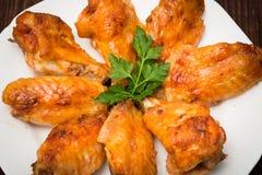 Пряный испеченный цыпленок Стоковое фото RF