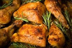 Пряный испеченный цыпленок Стоковые Изображения RF