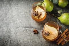 Пряный коктеиль груши падения Стоковая Фотография