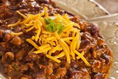 Пряный домодельный суп Carne жулика Chili Стоковые Фото
