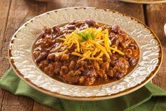 Пряный домодельный суп Carne жулика Chili Стоковое Фото