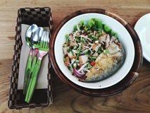 Пряный салат скумбрии стоковые изображения rf