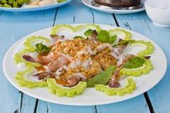 Пряный салат креветки Стоковые Фото