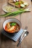 Пряный салат скумбрий в томатном соусе Стоковые Фото