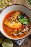 Пряный салат скумбрий в томатном соусе Стоковая Фотография