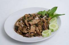 Пряный семенить салат мяса Стоковое фото RF
