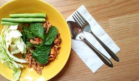 Пряный семенить салат свинины Стоковая Фотография