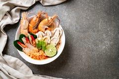 пряный суп креветок (Том Yum Goong стоковая фотография rf