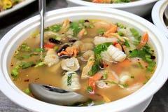 Пряный суп морепродуктов стоковая фотография rf