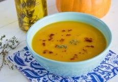 Пряный суп тыквы Стоковое Изображение