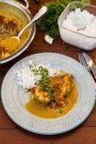 Пряный цыпленок в соусе с молоком кокоса стоковые изображения rf