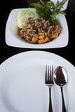 Пряный Salmon салат стоковое фото rf