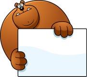 Прятать медведя шаржа Стоковые Изображения