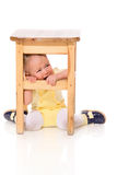 пряча младенец Стоковая Фотография