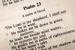 Псалмы 23 стоковые изображения