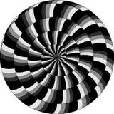 Психоделическая картина, улитка, черно-белая спираль, оптически illu иллюстрация штока