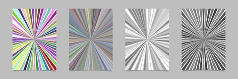 Психоделический абстрактный комплект шаблона предпосылки страницы нашивки sunburst Стоковая Фотография RF