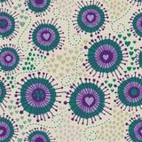 Психоделическая абстрактная безшовная текстура иллюстрация вектора