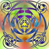 Психоделические пестротканые пузыри иллюстрация вектора