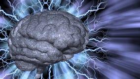 Психоделический мозг предпосылки иллюстрация штока