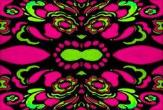 Психоделический ретро орнамент Стоковые Изображения RF