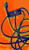 Психоделический шнур сотового телефона Стоковые Изображения