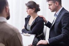 Психолог может помочь вам сейф ваше замужество стоковое изображение