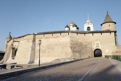 Псков Krom Кремль построил конец XI столетия - начало столетия XII Россия Стоковые Фото