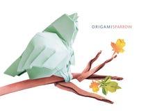 Птица воробья Origami Стоковые Изображения RF