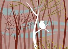 Птица в лесе, иллюстрации вектора иллюстрация вектора