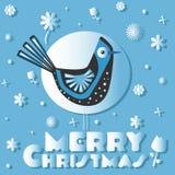 Птица желает с Рождеством Христовым Стоковые Фото