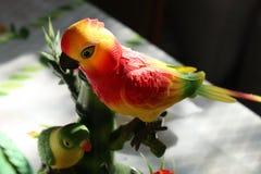 Птица игрушки несколько цветов стоковое изображение rf