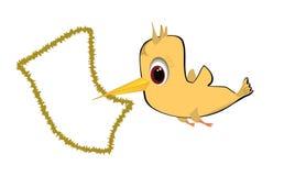Птица и рамка Стоковая Фотография