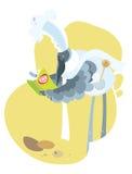 Птица кашевара с книгой кашевара бесплатная иллюстрация