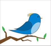Птица на векторе ветви Стоковое фото RF
