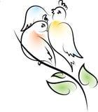 Птица на ветви Стоковые Фотографии RF