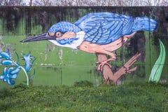 Птица на стене Стоковые Изображения RF