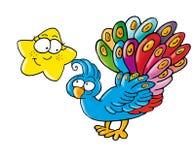 Птица павлина красочная Стоковое Изображение