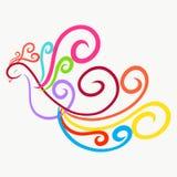 Птица радуги грациозно fairy, скручиваемость иллюстрация штока