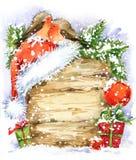 Птица рождества и предпосылка рождества изображение иллюстрации летания клюва декоративное своя бумажная акварель ласточки части иллюстрация вектора