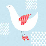 птица симпатичная Иллюстрация штока