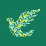 Птица цветка Стоковая Фотография RF