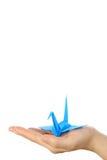 Птица японской бумаги голубая везения Стоковое фото RF