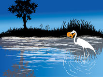 птица silhouettes вал Стоковые Изображения RF