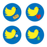 Птица Twitter Стоковое Изображение
