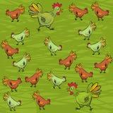 Птицеферма на зеленом цвете Стоковые Фотографии RF