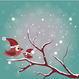 Птицы в нагом дереве Стоковые Фотографии RF