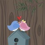 Птицы влюбленности Стоковое фото RF