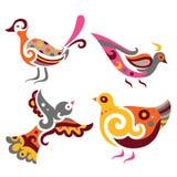птицы декоративные иллюстрация вектора